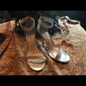 5440aad9a25 Steve Madden Shoes - Steve Madden Realov-R silver rhinestone heel 7. M